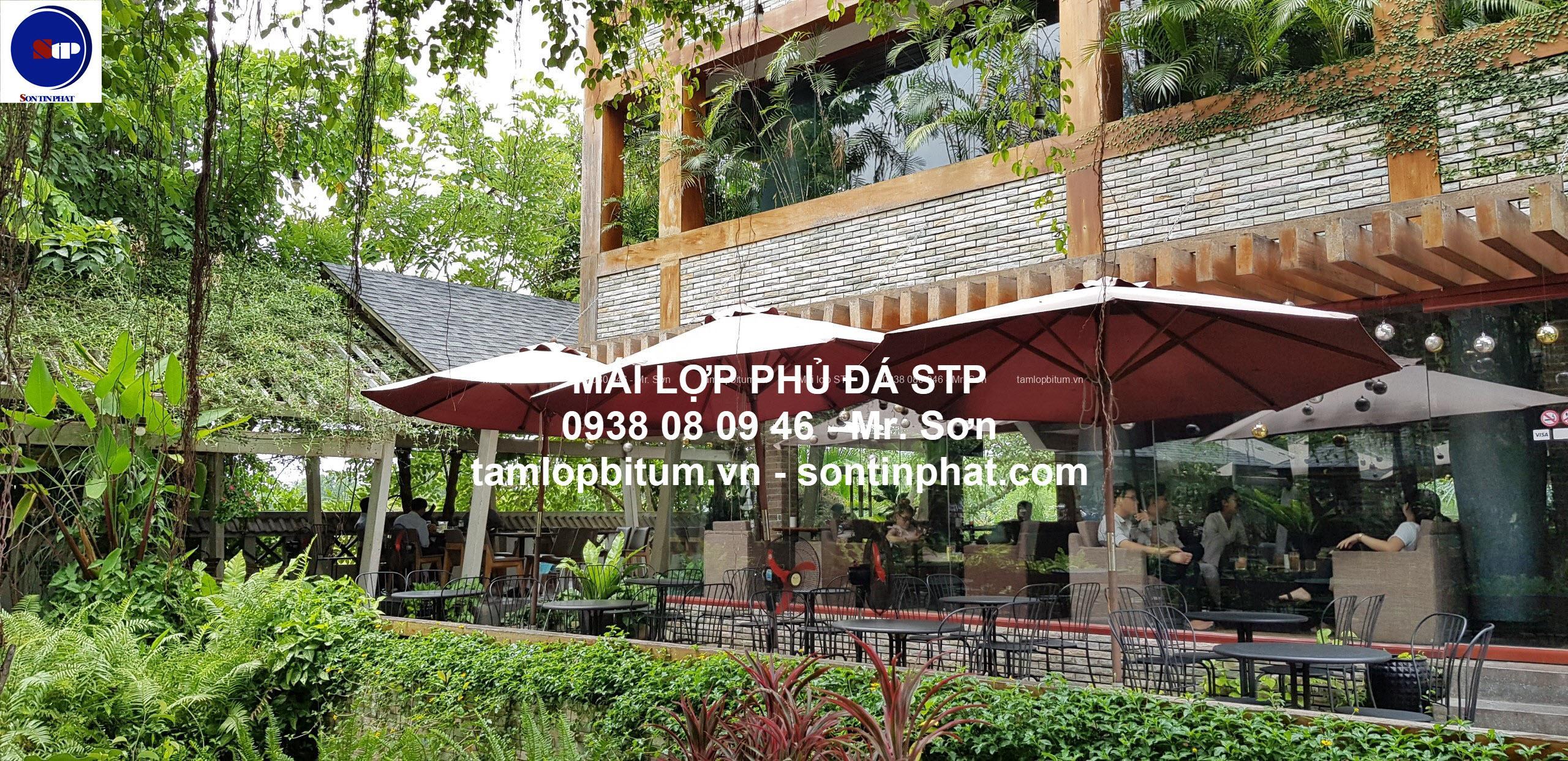 Mái lợp quán cafe sân vườn STP
