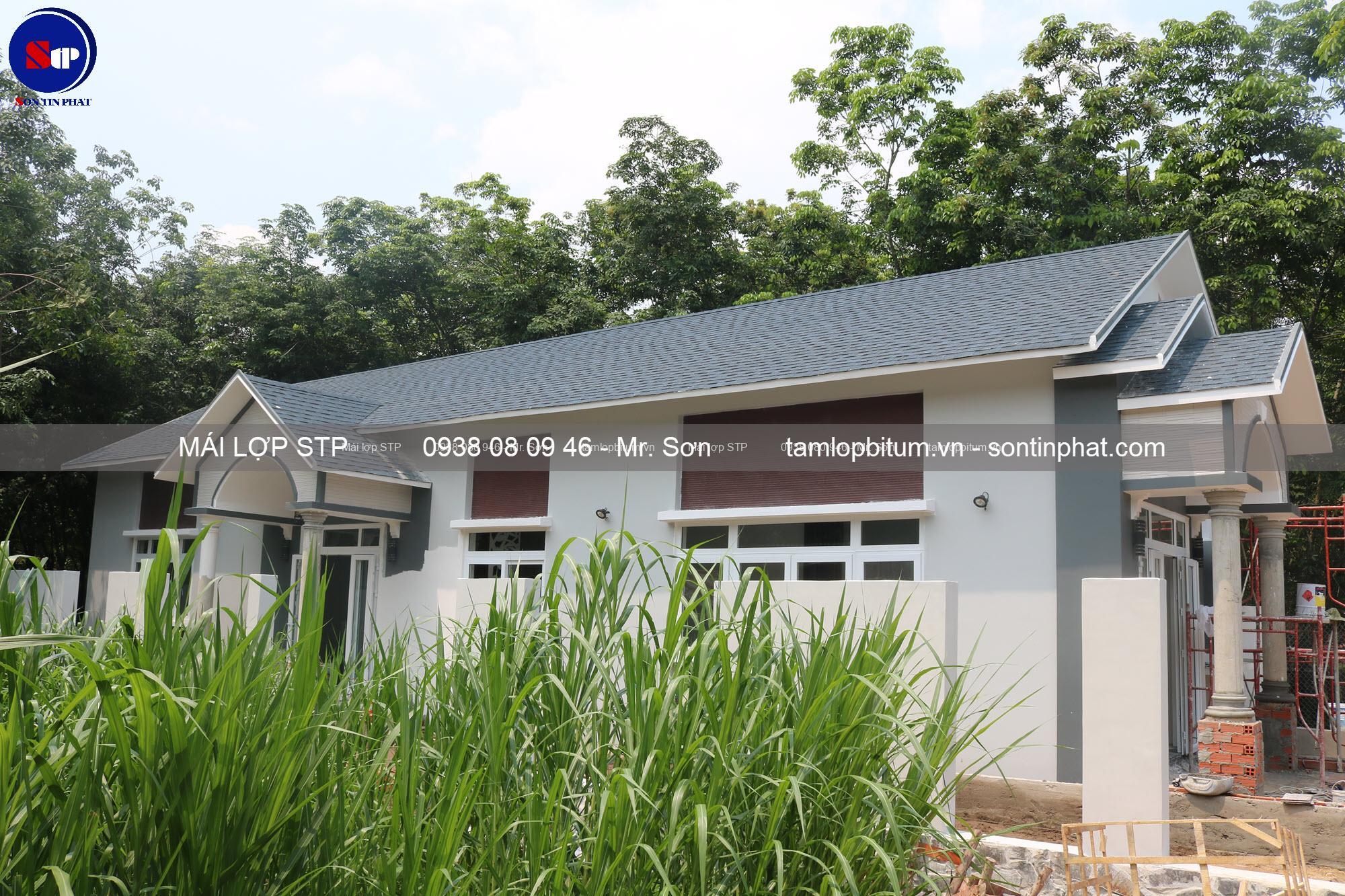 Mái đá STP kiểu xếp lớp cho nhà mái Thái