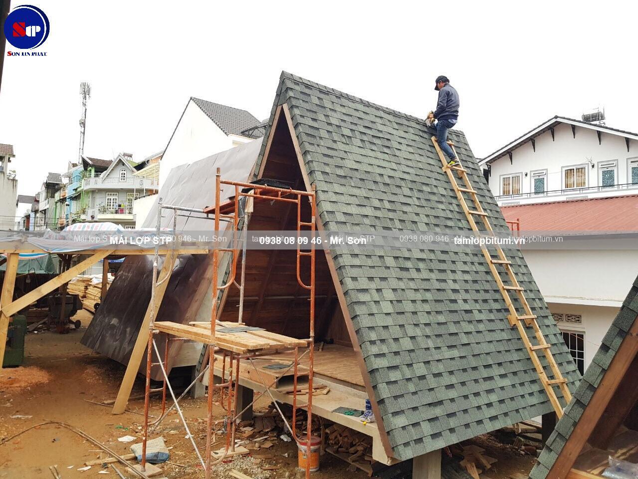 Mái phủ đá STP cho homestya cao cấp
