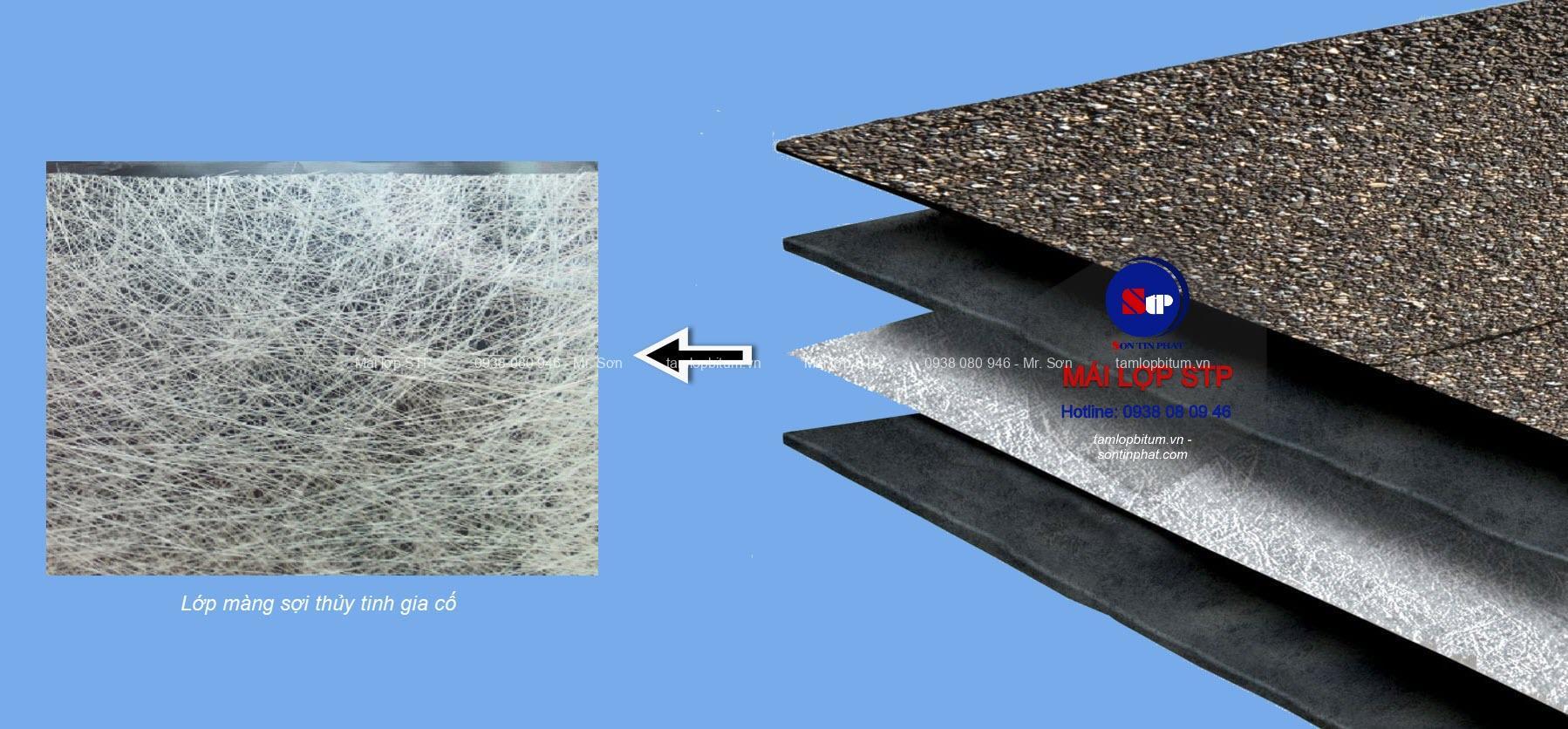 Cấu tạo của mái đá STP
