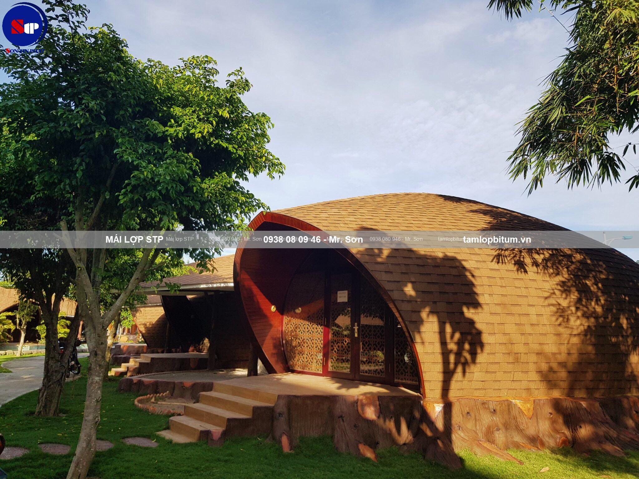 Mái phủ đá STP cho resort