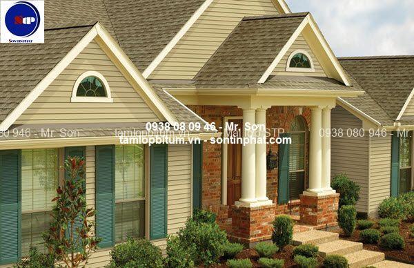 Mái phủ đá STP cho nhà mái thái
