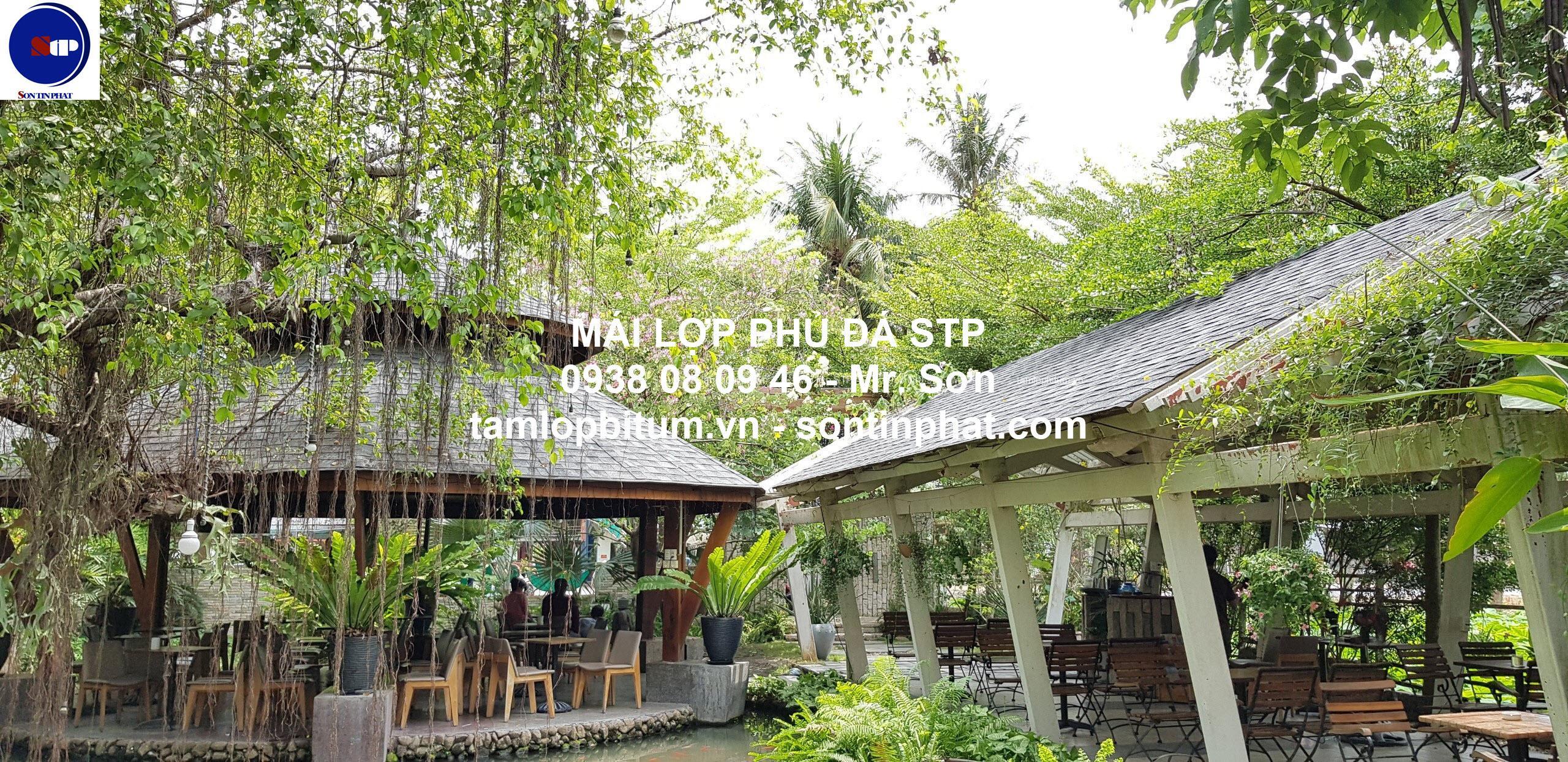 Mái lợp quán cafe sân vườn Tây Ninh