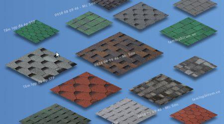 Mái đá ép STP có mẫu mã và màu sắc đa dạng