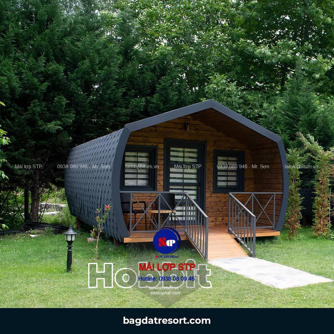 Tấm lợp đá ép STP cho bungalow, homstay, resort