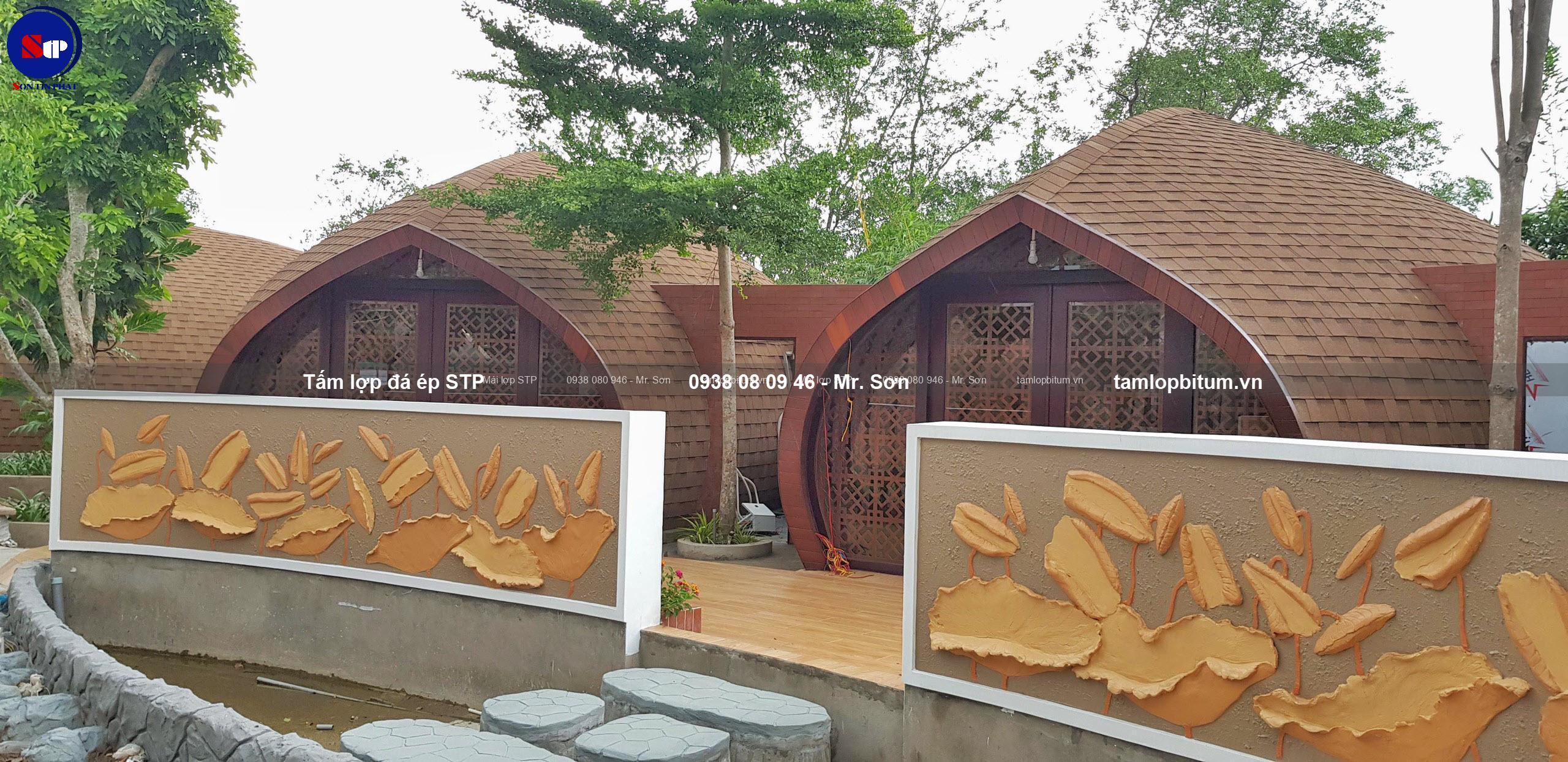 Ngói dán bitum STP cho resort